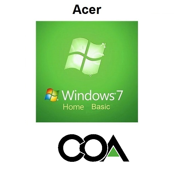 Windows 7 Home Basic Acer COA Sticker