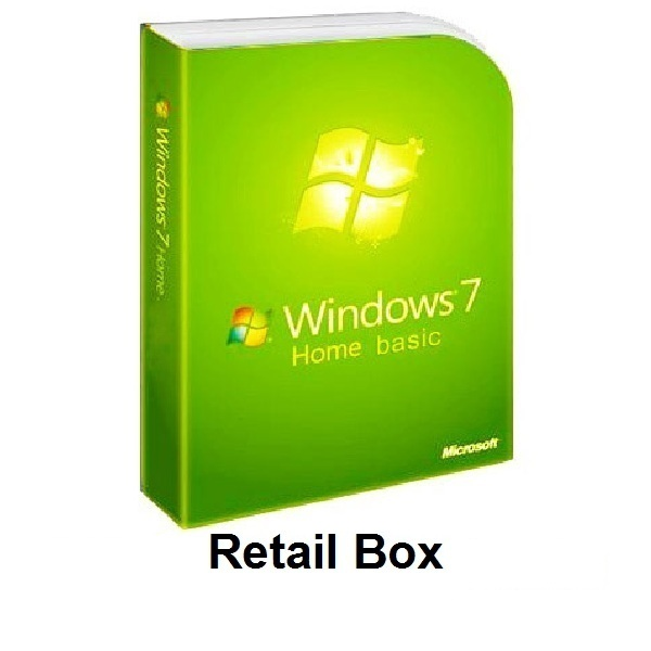 Windows 7 Home Basic Retail Box