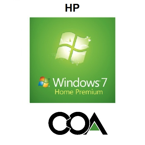 Windows 7 Home Premium OA HP COA Sticker