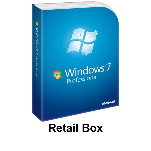 Windows 7 Professional  Retail Box