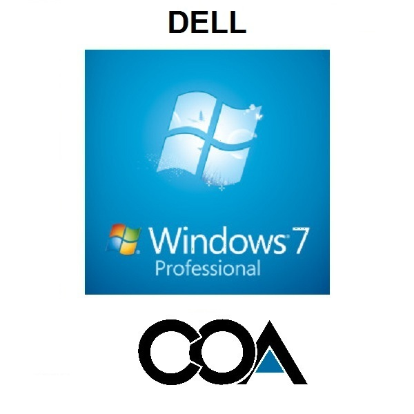 Windows 7 Professional OA DELL COA Sticker