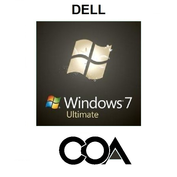 Windows 7 Ultimate DELL COA Sticker