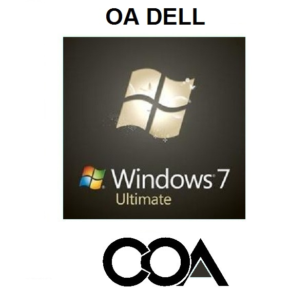 Windows 7 Ultimate OA DELL COA Sticker