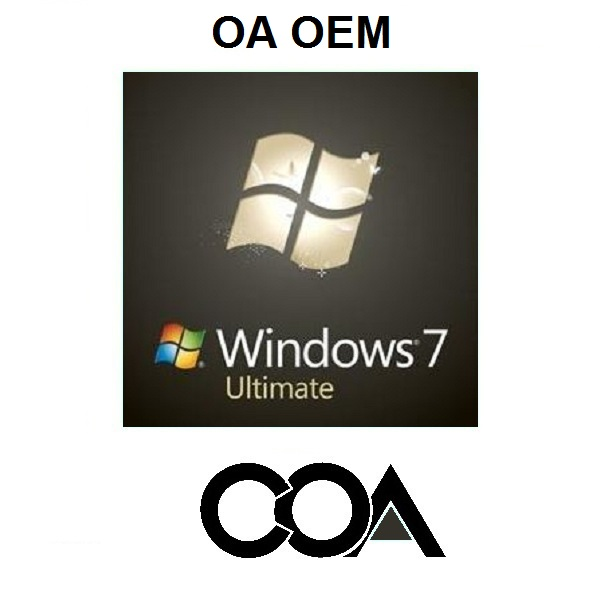 Windows 7 Ultimate OA OEM Software COA Sticker