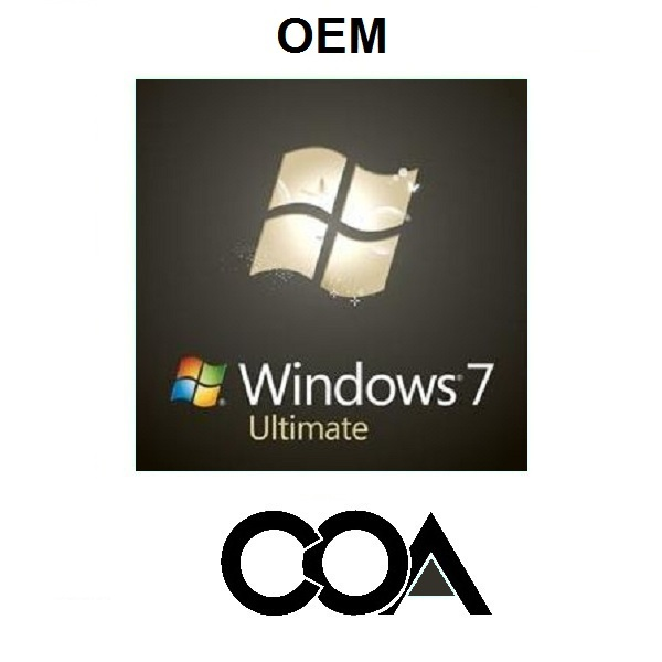 Windows 7 Ultimate OEM Software COA Sticker