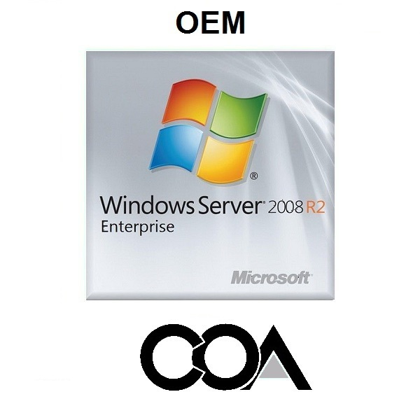 Windows Server 2008 R2 Enterprise OEM COA Sticker