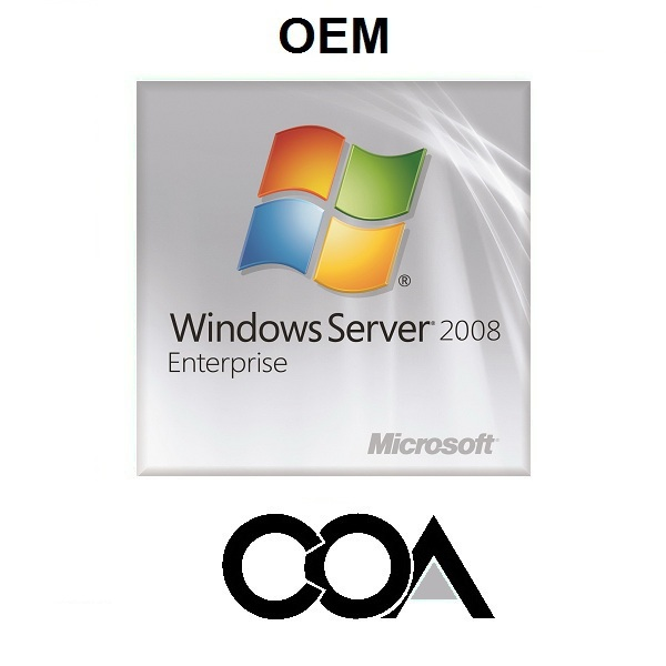 Windows Server 2008 Enterprise OEM COA Sticker
