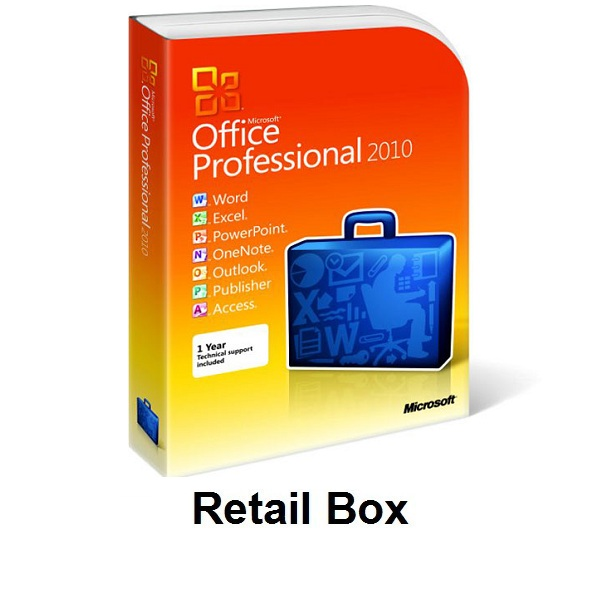 Office Professional 2010 Retail Box