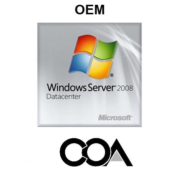 Windows Server 2008 DataCenter OEM COA Sticker
