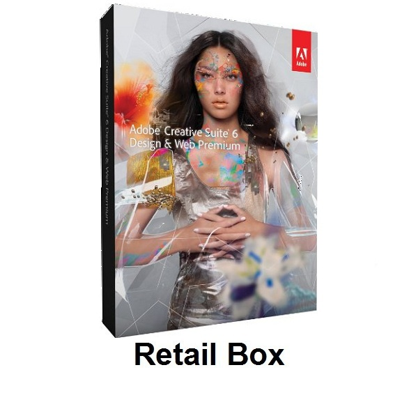 Adobe Creative Suite 6 Design & Web Premium Retail Box