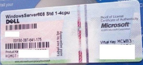 Windows Server 2008 R2 DataCenter OEM COA Sticker